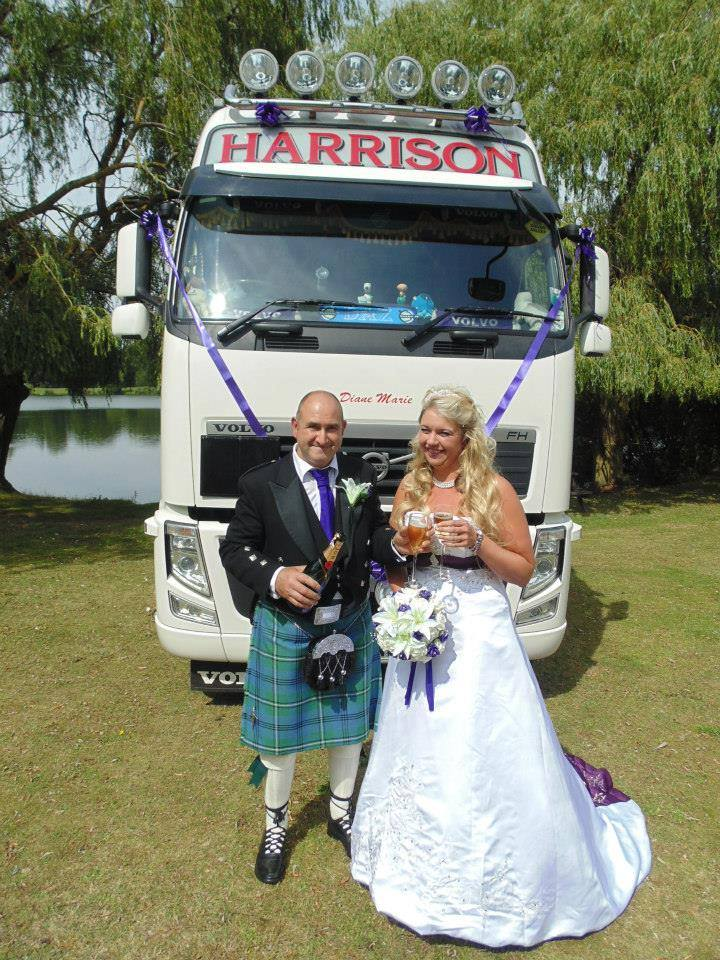 Wedding pics - Trucking FB - Diane and Brian 1