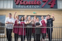 Truckers vote Route 74 the UK's best truck stop!