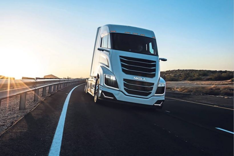 Nikola showcases zero-emission truck with 750 mile range