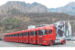 Sanpellegrino reduces emissions and noise with Scania gas trucks